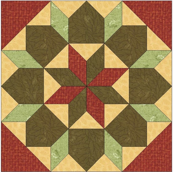 Star of Bethlehem Paper Piece Template Quilting Block Pattern