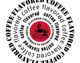 Flavored Coffee Circles