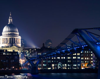 London photography, Spotlight on St Pauls -  photograph, signed print