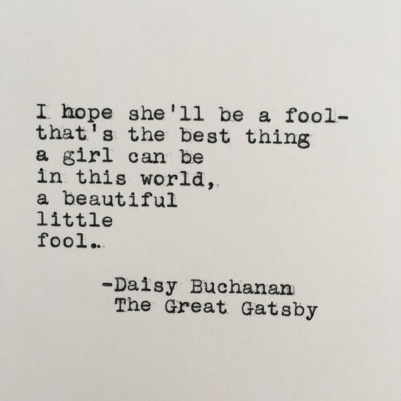 daisy buchanan in the great gatsby by f scott fitzgerald The buchanans, fictional characters, the wealthy and careless couple (tom and  daisy buchanan) who help to bring about the tragic end of jay gatsby in f scott  fitzgerald's masterpiece the great  jay gatsby , fictional character, the rich,  mysterious protagonist of f scott fitzgerald's novel the great gatsby (1925.