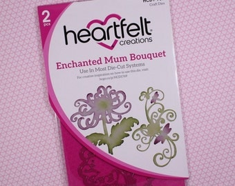Heartfelt Creations Cut & Emboss Dies by Spellbinders ~ Enchanted Mum Bouquet, HCD1 769 RETIRED PRODUCT