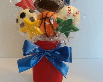 Sports Chocolate Centerpieces