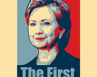 Sticker Hillary Clinton - Presidential Candidate 2016 Design STK - ADA - 0089
