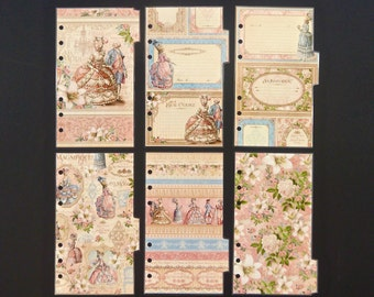 """Laminated dividers  - Personal Size - """"Marie Antoinette"""""""