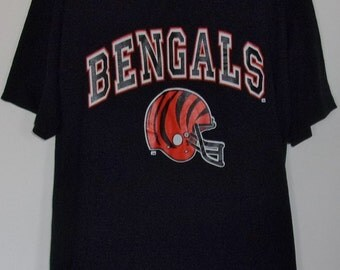 Bengals shirt etsy for Vintage bengals t shirts