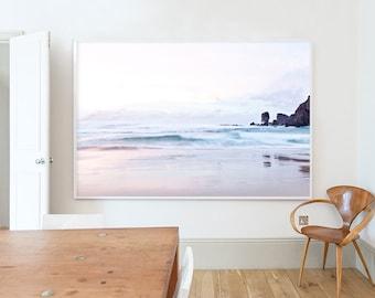 Photograph, Scotland, Landscape, Beach, Pastel, Pink, Blue, Home decor, Wall art, Home, Minimal, Print, Photo, Art