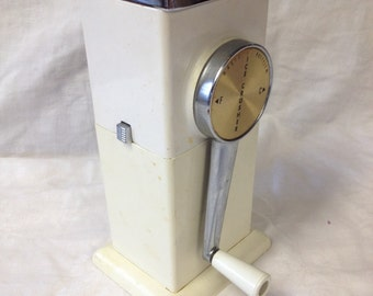 Vintage White Ice Crusher by Magic Hostess/ Retro Kitchen Decor
