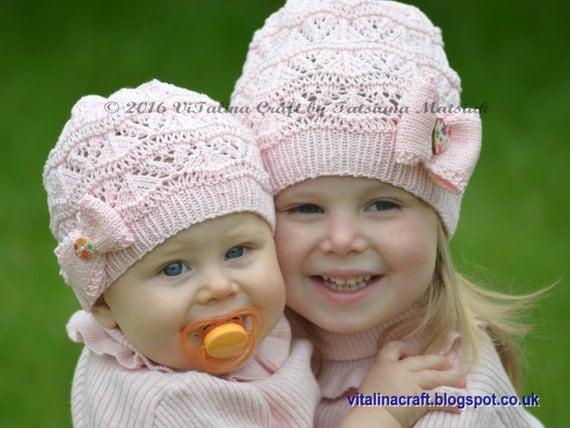 Вязание шаблон - Лейси Волны Hat (от младенца до размеров взрослых)