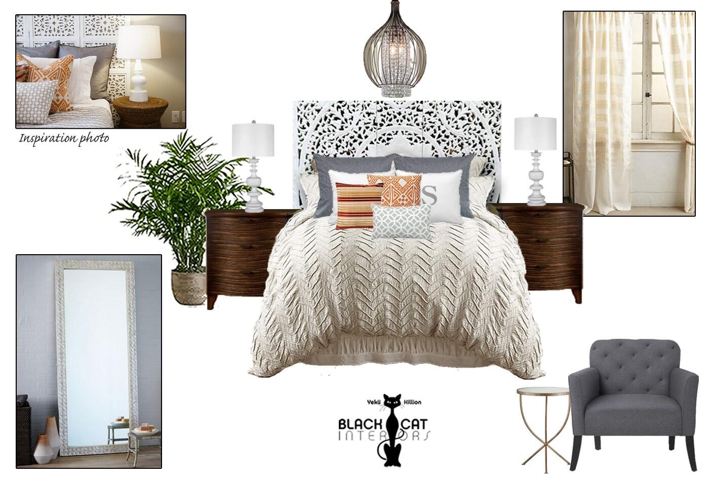 Bohemian Bedroom Online Interior Design Package Boho