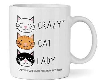Crazy Cat Lady 11oz Mug Cup