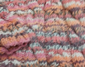 Hand knitted chunky cabled girls jumper age 2 to 3