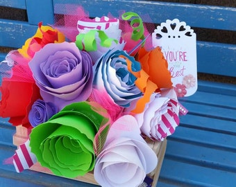 Prism Paper Flower Basket