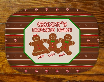 Personalized Serving Platter-Gingerbread Cookies