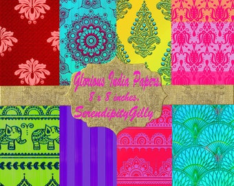 8 Glorious India Papers (8 x 8 inches) DOWNLOAD