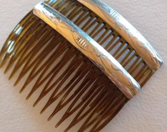 Sterling Silver Navajo Hair Barrettes