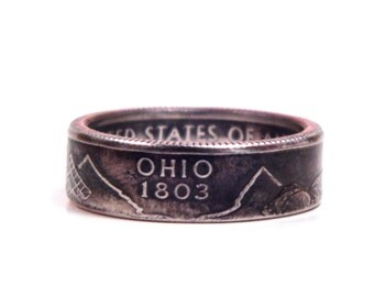 Size 7 Ohio State Quarter Coin Ring