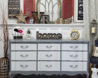Custom Grey/White French dresser
