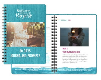 Journal Writing - Journaling Prompts Workbook - 30 days journal prompts writing challenge PRINTABLE