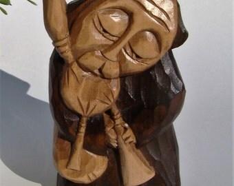 PIPER hand made wooden sculpture