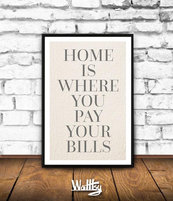 Printable Family Wall Decor : Home is where family room wall decor print inspirational