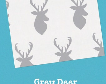 Deer or Elephant Baby Bedding Options- Mint, Orange, Sky Blue, or Pink Options Available