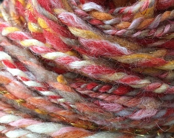 Bulky handspun yarn