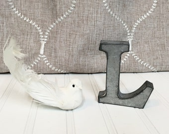metal letters wall decor galvanized metal by theshabbystore. Black Bedroom Furniture Sets. Home Design Ideas