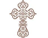 Christian Cross - cross stitch Pattern Holy cross Christening Baptism religious cross stitch Christmas easter cross stitch