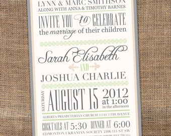 Rustic Printable Wedding Invitation, Vintage Printable Wedding Invitation, Printable Wedding Invitation, Typography Wedding Invitation, DIY
