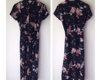 1990s / / / Rampage Vintage Asain Squash Blossom Dress Medium