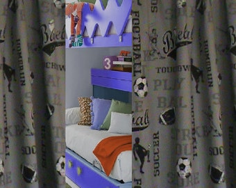 SPORTS Curtains SALE >>>Custom made Drapes