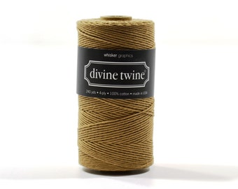 240 Yards of Bakers Twine-Solid Brown-100% Cotton-Gift Wrapping-Wedding Favors-Product Packaging