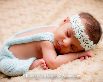 Baby Knitted Overalls - Infant Knitted Overalls -  Baby Rompers - Infant Rompers - Customized Infant Overalls -  Photography Prop