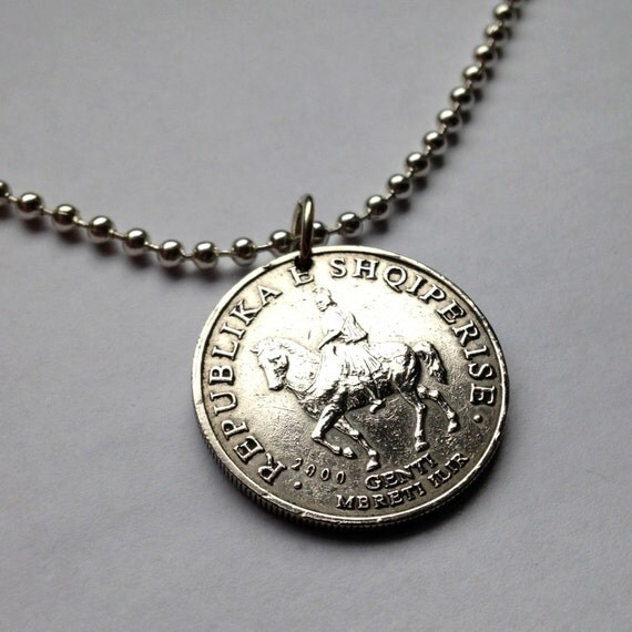 2000 albania 50 leke coin pendant charm necklace by