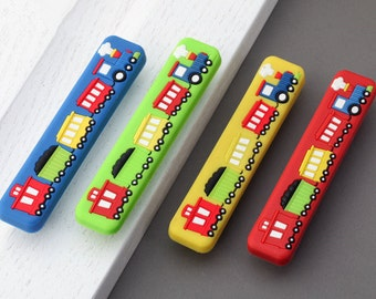 """3.75"""" 5"""" Kids Dresser Pulls Drawer Pull Handles Knobs Red Blue Yellow Green Car Train Childrens Cabinet Handle Pull Knob Colorful 96 128 mm"""