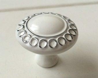 silver circle knob dresser knob drawer knobs pulls handles white cabinet knob kitchen cabinet door