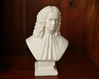 19th c Parian Ware Bust Of Handel - W.H.Goss 1862 +