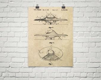 KillerBeeMoto: Duplicate of Original U.S. Patent Drawing For Vintage Flying Saucer