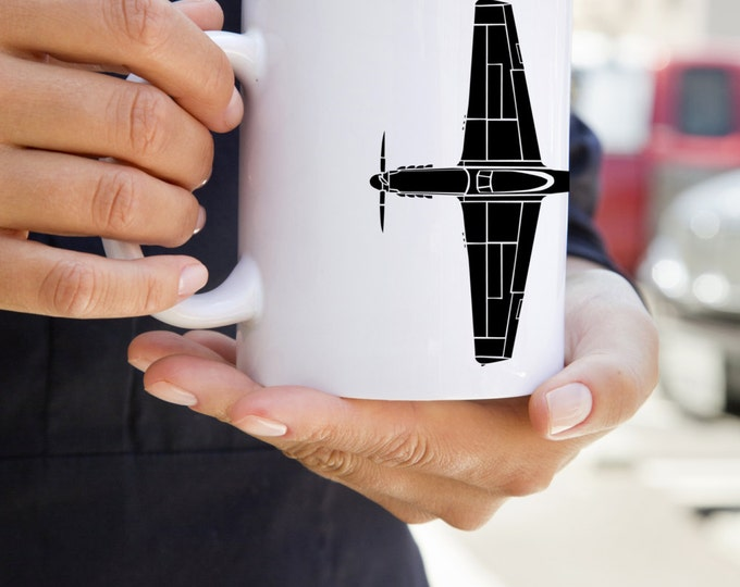 KillerBeeMoto: U.S. Made Coffee Mug North American P-51 Mustang Fighter Plane