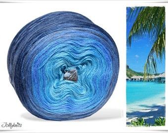 Gradient Yarn Merino Blue Lagoon