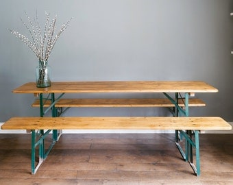 German beer table and benches