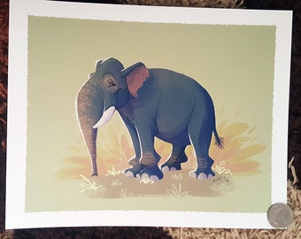 """8x10"""" Asian elephant fine art print"""