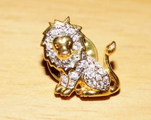 Lion Djinn King Lord of the Shamanic Astral Animals Vessel - Influenced by Beautiful Lion Brooch Pin