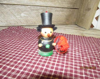 Vintage Steinbach Wooden Christmas Ornament West Germany Circus Ringmaster