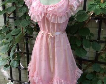 Vintage polka dot line dancing dress