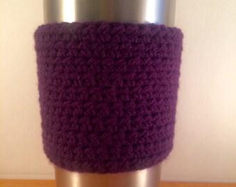 Eggplant Purple Yeti Cup Wrap/Cozy/Cover/Sleeve
