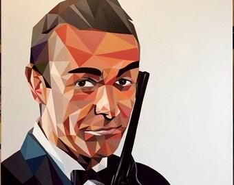"Acrylic on canvas ""James Bond"""