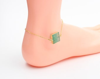 Jade Bracelets -- Necklaces Anklet Choker Green Chrysoprase For Gemstone Jewelry Supplies Wholesale Handmade DJ