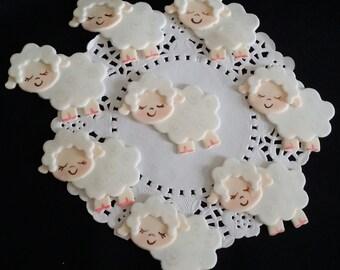 Lamb Baby Shower, Lamb Cake Topper, Little Lamb Baby Shower, Lamb Favor, Baby Lamb Cake Topper, Baptism Lamb Favor, Little Lamb Baby Shower