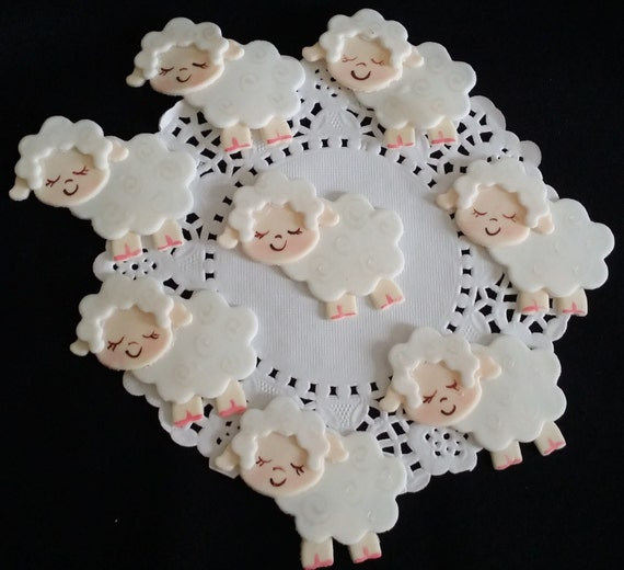 Lamb Baby Shower Lamb Cake Topper Little Lamb Baby Shower